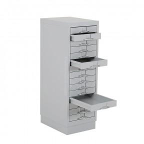 Meuble a Plan A4 Metallique avec 3 tiroirs ouverts