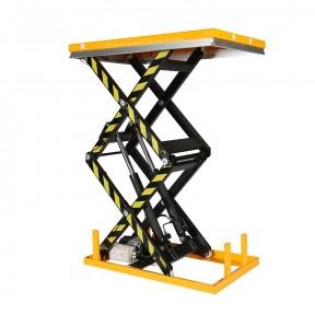Table elevatrice électrique double ciseaux capacité 2 tonnes