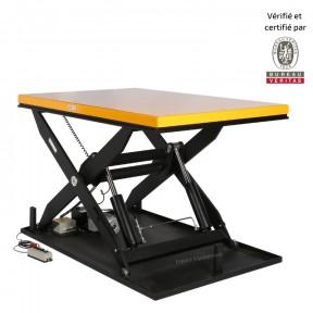 table élévatrice électrique 2200 kg vue de 3/4
