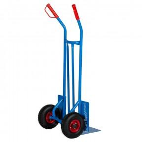 Diable acier roues pneus capacité 300 kg.