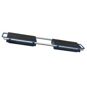 Vue du patin rouleur ajustable avec barres de jonction