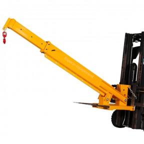 Potence pour chariot élévateur- télescopique articulée 3 tonnes mât déplié et levé