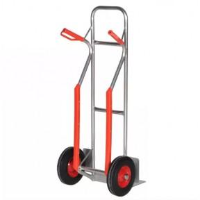 Diable aluminium avec renforts roues gomme dure 200 kg